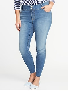 Secret-Slim Pockets Plus-Size Built-In Sculpt High-Rise Rockstar Jeans