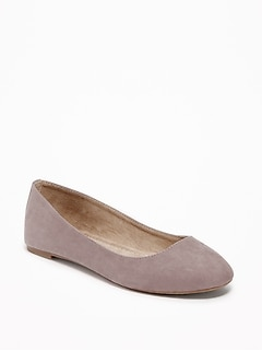 Faux-Suede Ballet Flats for Women