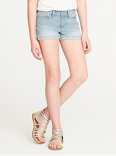 Denim Cut-Off Shorts for Girls