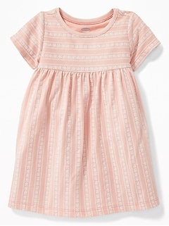 Empire-Waist Crew-Neck Dress for Baby