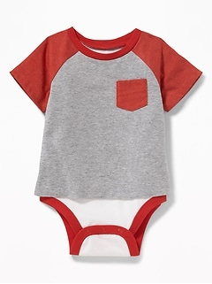 Color-Blocked 2-in-1 Tee Bodysuit for Baby