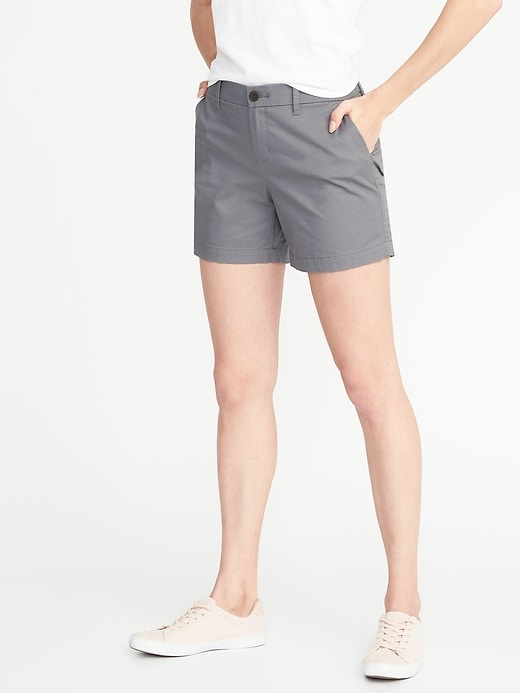 Mid-Rise Everyday Twill Shorts for Women (5