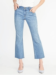 Cropped Flare Ankle Jeans for Women