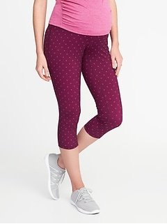 Maternity High-Rise Compression Crops