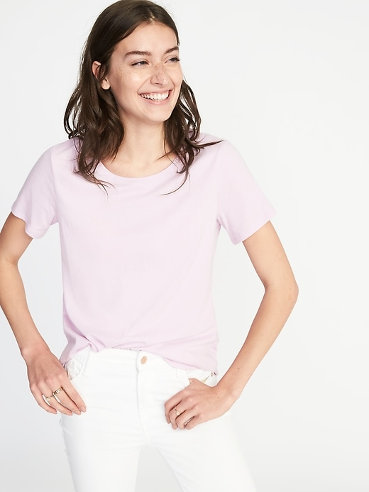 204630e37 Shoptagr | Every Wear Crew Neck Tee For Women by Old Navy