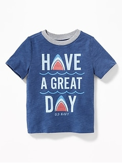 Graphic Slub-Knit Tee for Toddler Boys