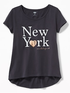 New York Graphic Tee for Girls