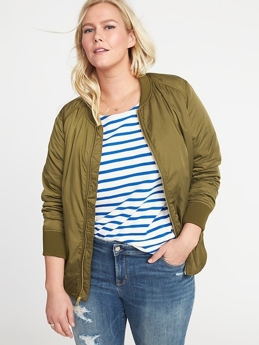 Plus Size Nylon Bomber Jacket by Old Navy