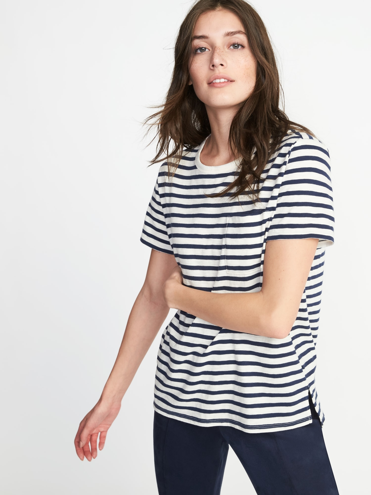 60b0f932 Boyfriend Slub-Knit Tee for Women | Old Navy