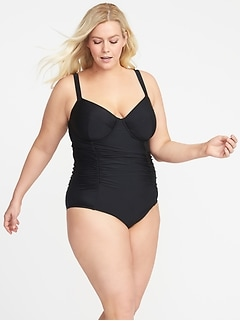 Secret-Slim Plus-Size Underwire Swimsuit
