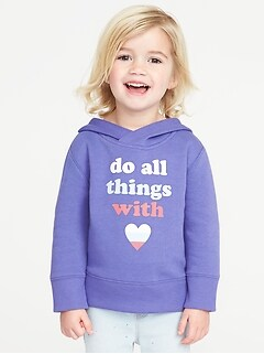 Graphic Pullover Hoodie for Toddler Girls