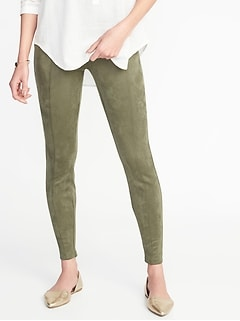 High-Rise Stevie Sueded Ponte-Knit Pants for Women