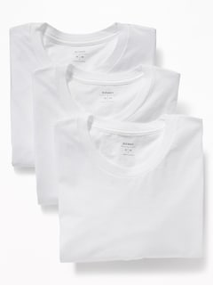 Moisture-Wicking Crew-Neck Tees 3-Pack for Men