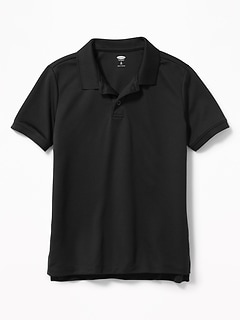 Moisture-Wicking Uniform Polo for Boys