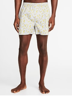Printed Poplin Boxers for Men