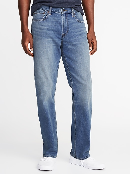 Old Navy Mens Straight Built-In Flex Jeans For Men