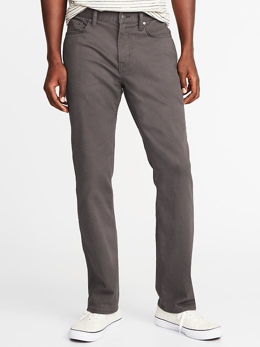 Straight Built In Tough All Temp Five Pocket Pants For Men by Old Navy