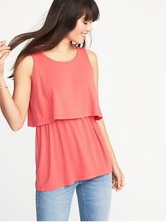 Maternity Ruffle-Tier Nursing Top