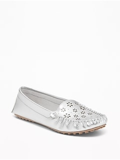 Laser-Cut Driving Moccasins for Women
