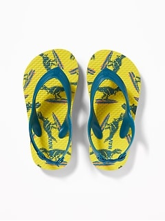 Printed Flip-Flops for Toddler Boys