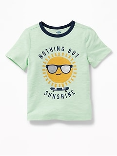 Sunshine-Graphic Crew-Neck Tee for Toddler Boys