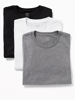 Crew-Neck Tee 3-Pack for Men