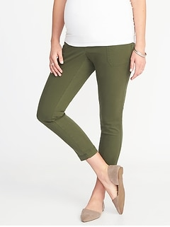 Maternity Full-Panel Pixie Utility Ankle Pants