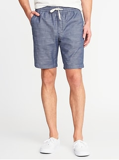 Built-In Flex Drawstring Jogger Shorts for Men - 9-inch inseam