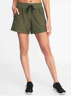 Soft-Twill Drawstring Performance Shorts for Women