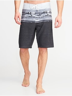 Built-In Flex Printed Board Shorts for Men - 10-inch inseam
