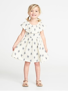 Fit & Flare Off-the-Shoulder Dress for Toddler Girls
