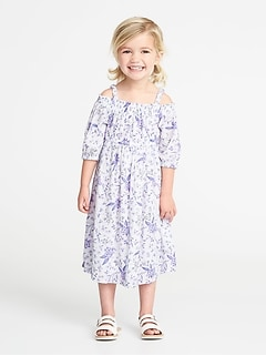 Floral Off-the-Shoulder Maxi for Toddler Girls