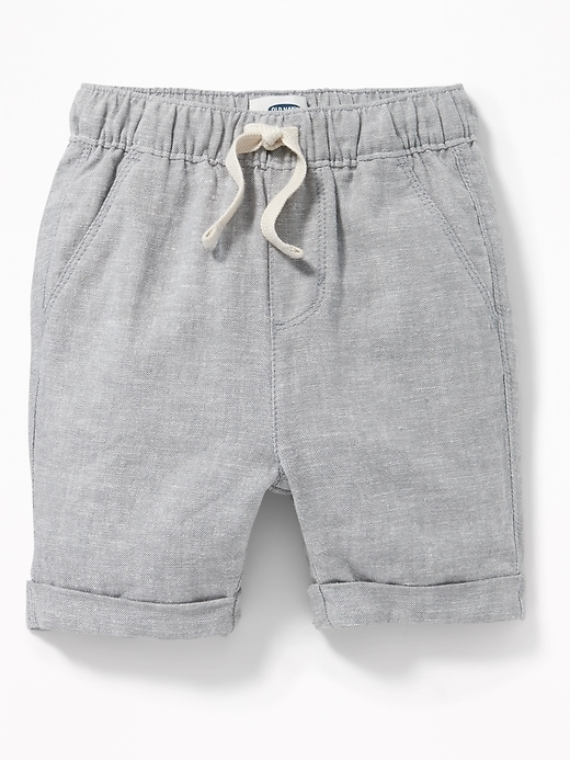 Cuffed Linen Blend Shorts For Toddler Boys by Old Navy