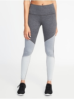 High-Rise Color-Block Elevate Compression Leggings for Women