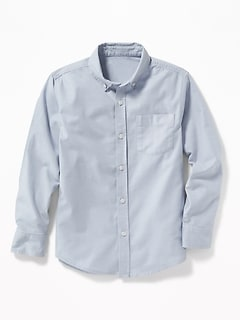 Lightweight Built-In Flex Oxford Uniform Shirt for Boys