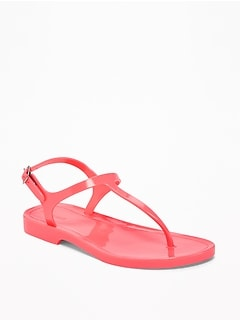 T-Strap Jelly Sandals for Girls