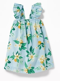 Ruffle-Strap Floral-Print Dress for Baby