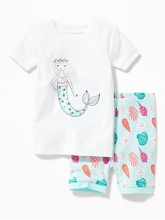 Mermaid-Graphic Sleep Set for Toddler & Baby