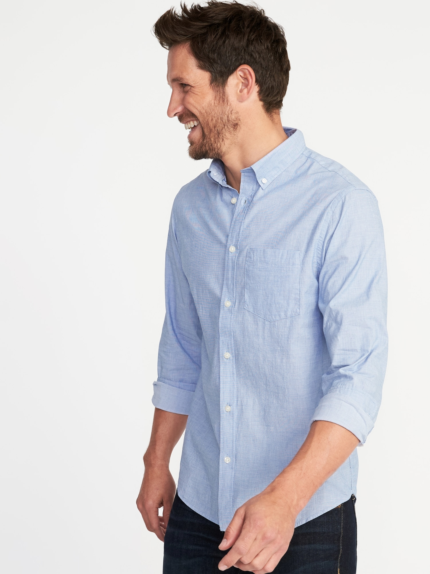 77e8fcfe Built-In Flex Everyday Shirt for Men | Old Navy