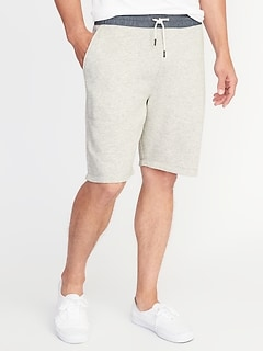 "Chambray-Waist French Terry Shorts for Men (9"")"