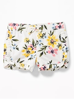 Printed Ruffle-Trim Shorts for Baby