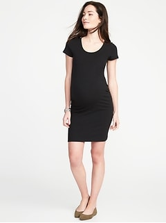Maternity Bodycon Scoop-Neck Dress