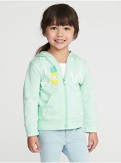 """Love"" Pineapple French Terry Hoodie for Toddler Girls"