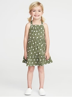 Tiered Slub-Knit Sundress for Toddler Girls