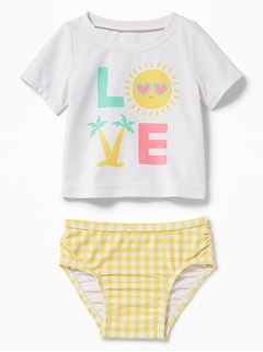 """Love"" Rashguard Swim Set for Baby"