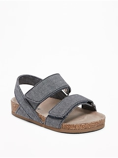 Chambray Double-Strap Sandals for Toddler Boys