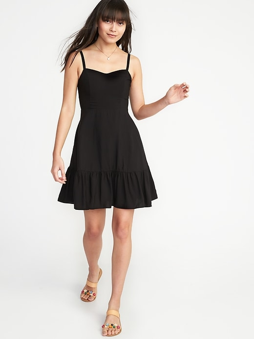 Fit &Amp; Flare Tiered Cami Dress For Women by Old Navy