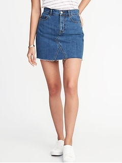 High-Rise A-Line Denim Mini for Women