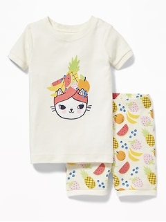Fruit-Turban Kitty Sleep Set for Toddler & Baby