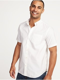 Regular-Fit Clean-Slate Everyday Oxford Shirt for Men